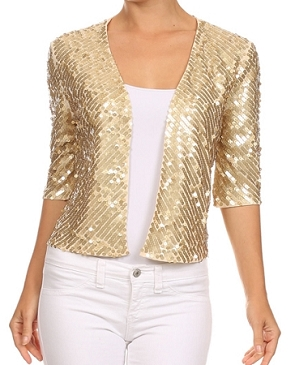 Sequins Cardigan Jacket- 3 Colors