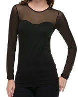 Seamless L/S Mesh Top- 3 Colors