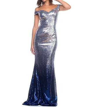 30ced8743a0f Silver Sequins Evening Dress
