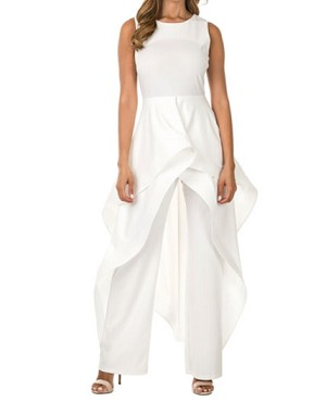Jumpsuit w/Skirt Ovelray- 2 Colors