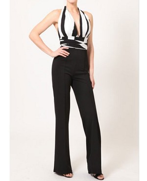 Black and White Infinity Jumpsuit