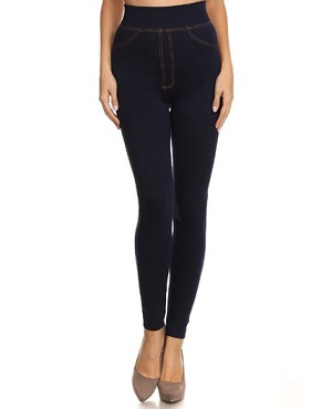 Dark Denim Seamless Jeggings