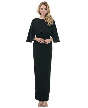 Black Dolman Sleeve Formal Dress