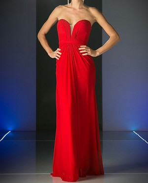Sweetheart Strapless Mesh Formal Dress- 3 Colors