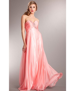 Sweetheart Strapless Chiffon Dress- 2 Colors