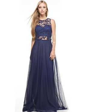 Shop Navy Formal Dress Miami, Navy Evening Dress, Two Piece Tulle ...