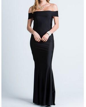a6999f23f29 Black Off the Shoulder Evening Dress Miami