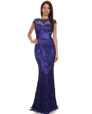 Guipure Lace Evening Gown-3 Colors