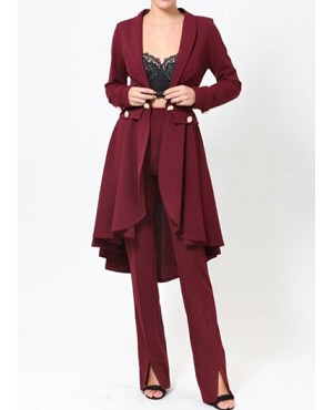 Hi Low Blazer Coat- 2 Colors