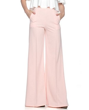 Crepe Palazzo Pants w/Pockets- 4 Colors