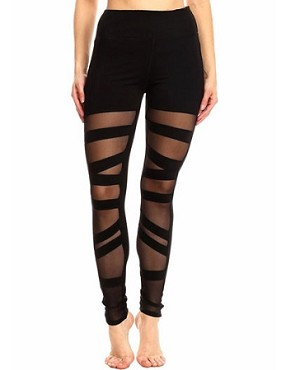 Ballerina Mesh Leggings- Black