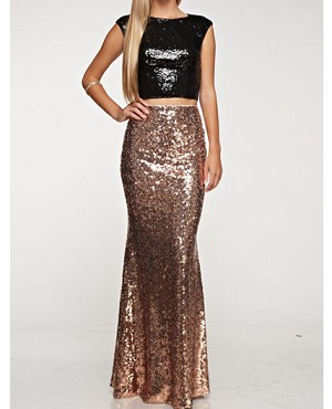 Sequins Long Skirt- 2 Colors