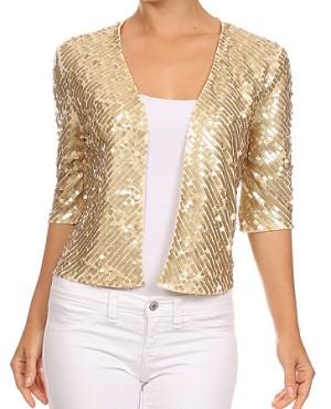 Shop Sequins Tops, Sequins Cardigan, Sequins Jacket, Gold Sequins ...
