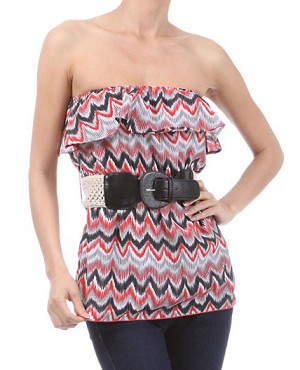 Missoni Print Tube Top w/Belt