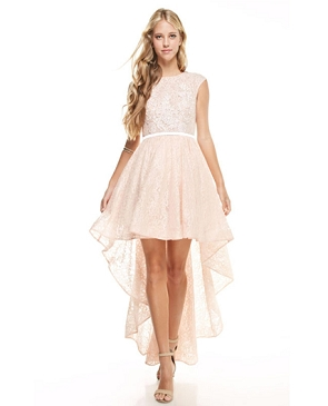 Lace High Low Dress- 2 Colors
