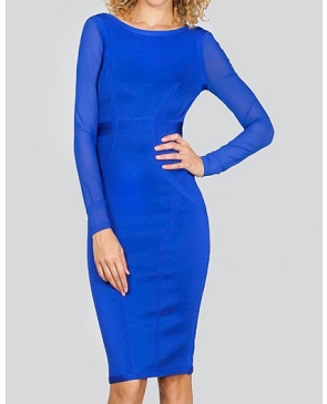L/S Mesh Bandage Dress- 2 Colors