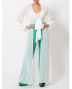 Chiffon Long Sleeve Duster Cardigan- 2 Colors
