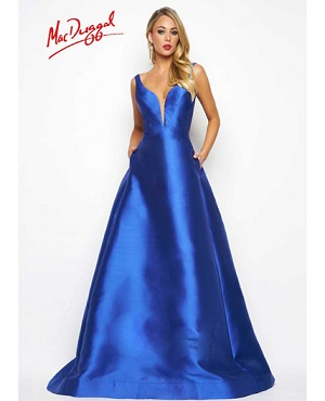 Royal Blue Ball Gown w/Open Back